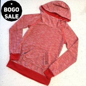 Roxy Cowl Neck Hooded Sweatshirt Red